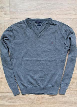 Шикарный свитерок tommy hilfiger  cotton + cashmer л размер