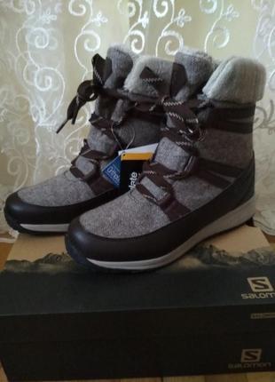 Теплые зимние сапоги, ботинки salomon