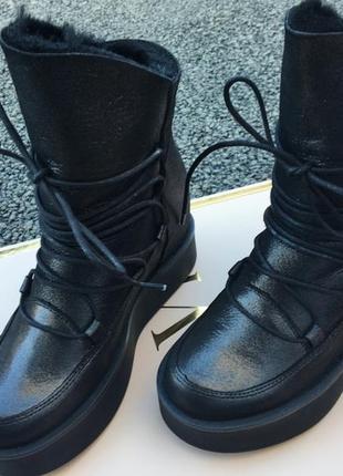 Распродажа!!! зимние натуральные, кожанные ботинки