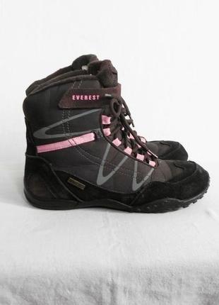 Зимние высокие замшевые треккинговые спортивные ботинки