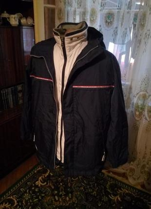 Акция.  флисовая кофта поддёва в подарок.куртка  2 в 1  ellesse  италия