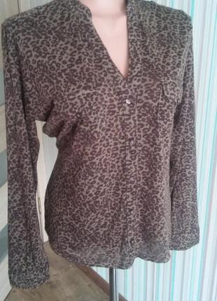 Рубашка блуза тигровый принт