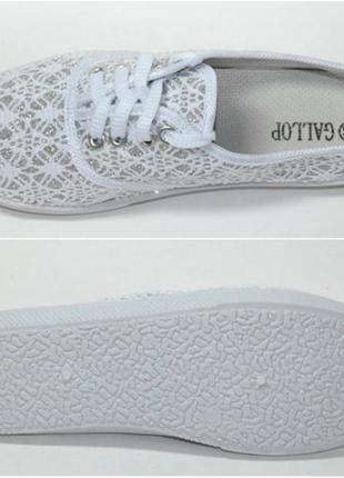 050c1de2e12a Белые кружевные ажурные кеды-мокасины супер стильные тренд сезона в ...