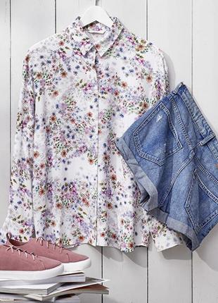 Рубашка в цветной принт h&m