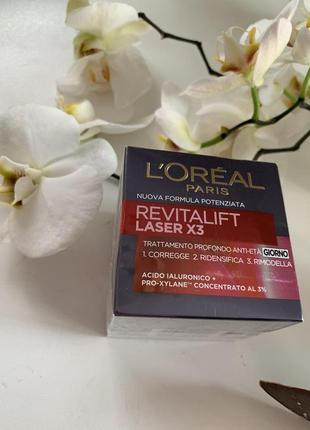 Дневной крем l'oreal paris revitalift laser х3