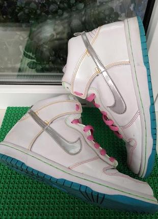 Высокие кроссовки скейтера ботинки nike р.38.5 , стелька 24.5 см