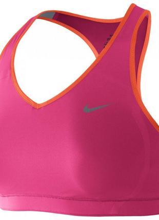 Розовый,яркий, спортивный топ бра nike dri fit оригинал /м