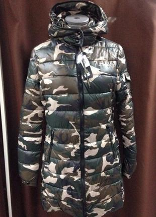 Камуфляжная женская зимняя куртка