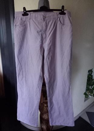 Трендовые велюровые пудровые,стрейчевые брюки 52-54р