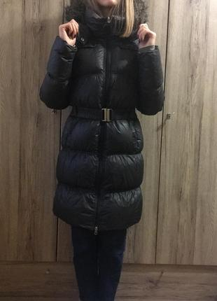 Зимний  чёрный пуховик adidas