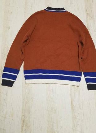 Теплый вязаный джемпер свитер оверсайз asos2