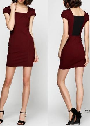 Платье бордового цвета  silvian heach