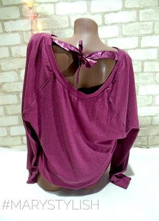 Красивая кофта свитшот с бантиком на спине2