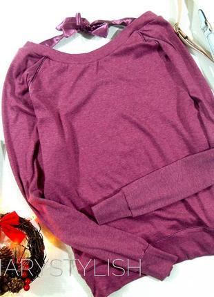 Красивая кофта свитшот с бантиком на спине