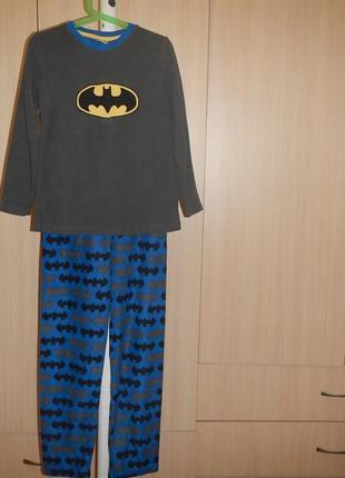 Флисовая пижама rebel batman р.140см(9-10лет) теплая