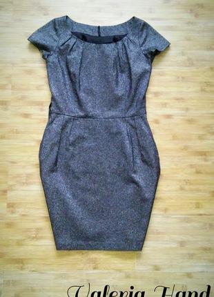"""Идеальное нарядное брендовое плотное платье """"футляр"""" naf-naf - размер 44-46"""