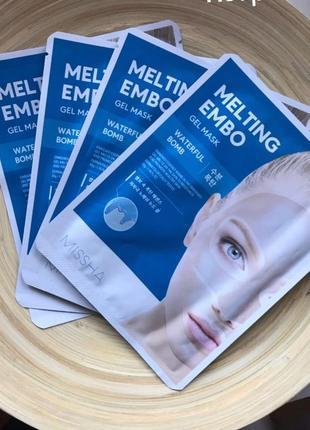 Тануча гідрогелева маска missha - melting embo