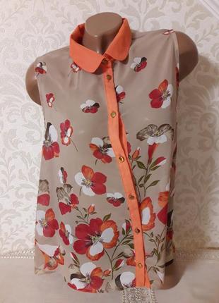 Шикарнейшея блуза в цветочный принт..