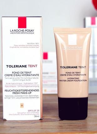 La roche-posay toleriane teint water creme spf 20  увлажняющий тональный крем