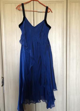 Новое шикарное вечернее платье 100% шелк phase eight 14-16pp