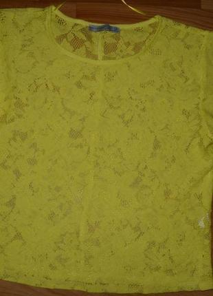 Топ футболка майка atmosphere сетка укороченная модная кроп-топ