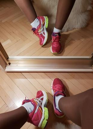 Яркие супер удобные кроссовки 38 размер, оранжевые малиновые белые