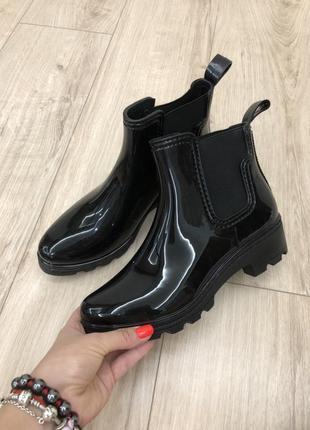 Модные резиновые сапоги ботинки челси, силиконовые сапожки, р. 36, 37, 39, 412