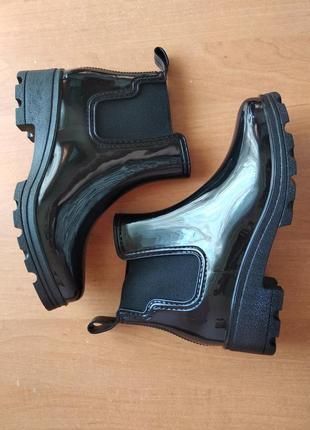 Модные резиновые сапоги ботинки челси, силиконовые сапожки, р. 36, 37, 39, 414