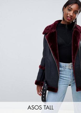 Зимняя кожаная куртка  от asos