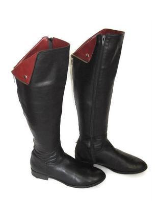 Зимние высокие кожаные сапоги fabio fabrizi. польша.