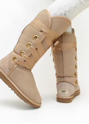 Дуже гарні високі бежеві чоботи ugg 23 см