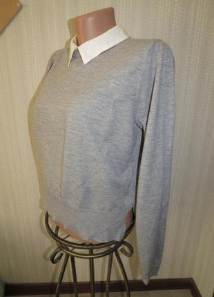 Свитер-рубашка f&f . 8\ xs\ s