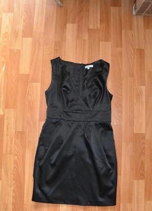 Сарафан платье офисное деловое строгое классическое черное школа офис