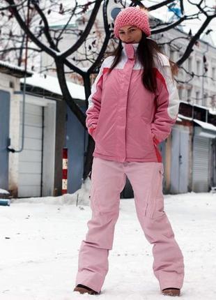 Зимний термо лыжный костюм куртка и штаны для сноуборда с-м