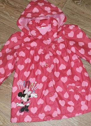 Курточка ветровка на девочку 3-4года disney