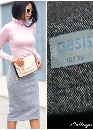 Фирменная, базовая, тёплая, меланжевая, шерстяная юбка миди, качество!!! шерсть + шёлк