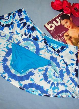 Низ от купальника раздельного трусики женские плавки размер 48 / 14 синие с юбкой