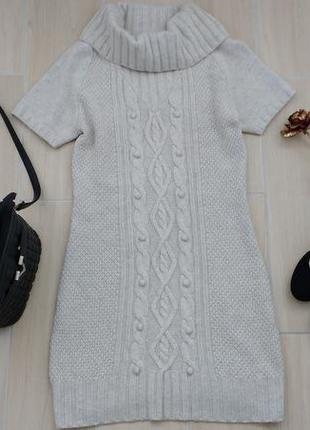 P l красивое теплое платье в составе шерсть, ангора!