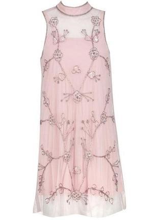 Нежнейшее платье с вышивкой бисером boohoo