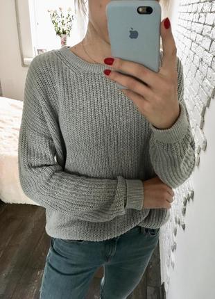 Вязаный свитер, натуральный свитер