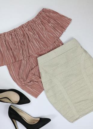 Шикарная мерцающая юбка-резинка