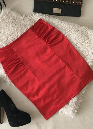 Обалденная юбка карандаш в ярко-красном цвете на р. 10/38!👠❤️💋