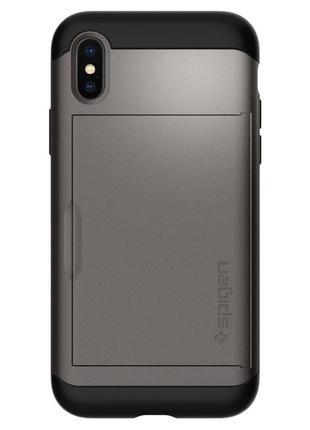 Чехол spigen slim armor cs для iphone x xs оригинал новый