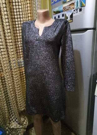 Новогоднее платье с люрексом