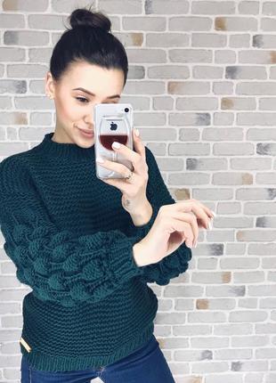 Стильный свитер hand made♥