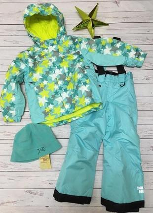 Лыжный термо-костюм, термо-куртка, термо-штаны, полукомбинезон lupilu, германия,р.110-116