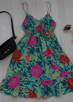 Р m-l красивое ситцевое платье ! индия