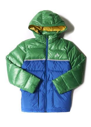 Детский утеплённый пуховик adidas heavy down jacket, m67414-оригинал.