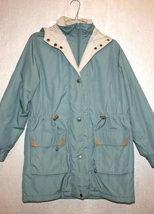 Парка куртка зеленая демисезонная зимняя с капюшоном зеленая classics (к038)