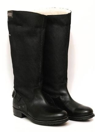 Зимние кожаные ботинки g-star 40 размер высокие сапоги, ботфорты